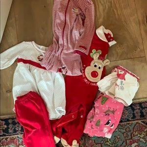 Adorable Christmas lot for baby girl